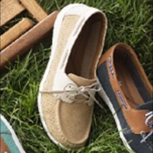 Clarks Suede Slip-on Boat Shoes Tan Arbor Opal 6